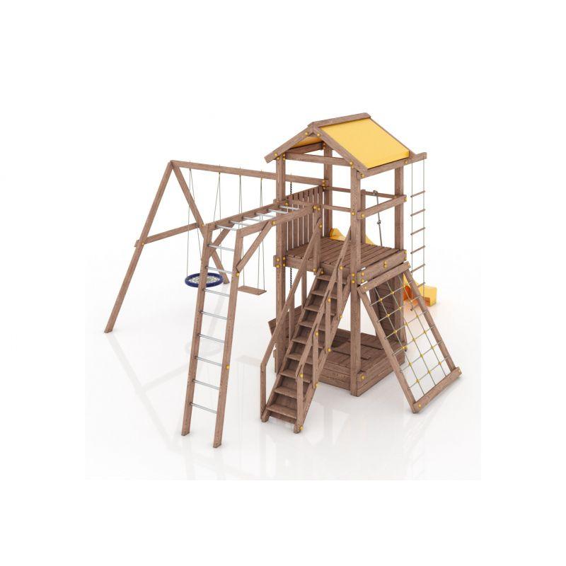 Фотография Деревянная детская площадка Барселона с тентовой крышей 2