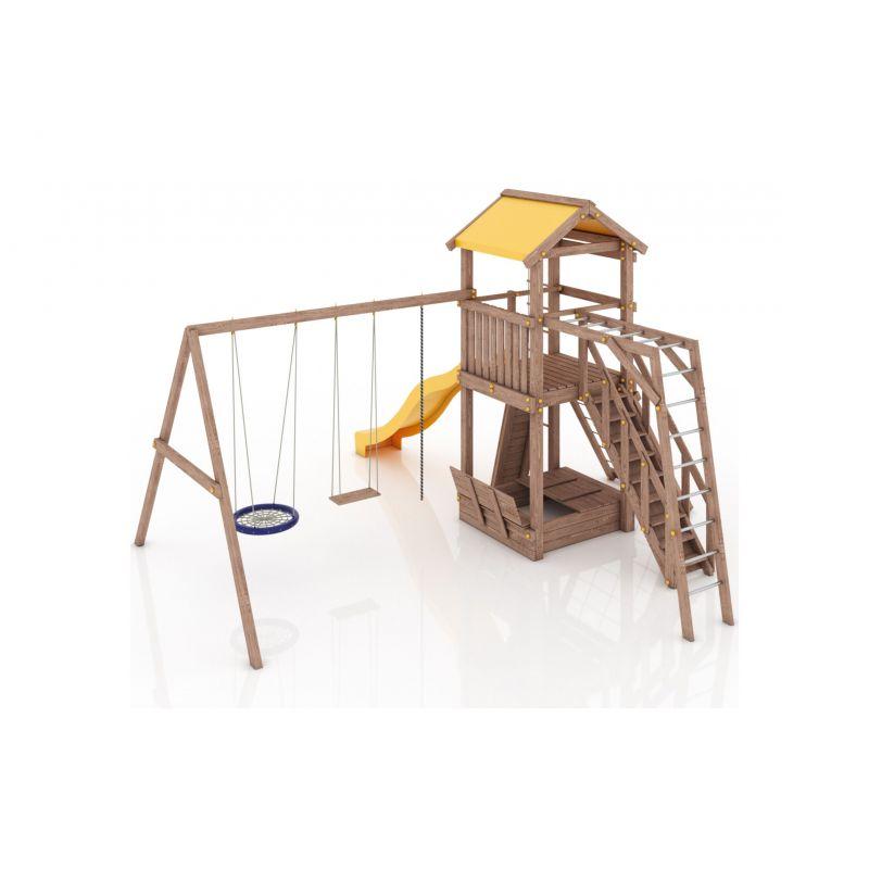 Фотография Деревянная детская площадка Барселона с тентовой крышей 3