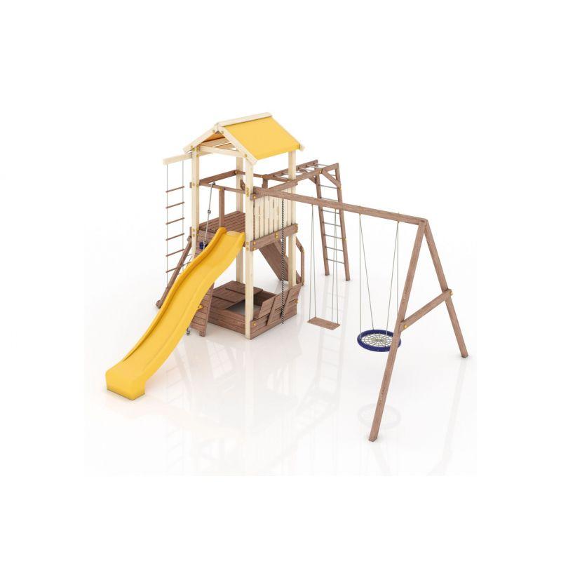 Фотография Деревянная детская площадка Барселона с тентовой крышей 5