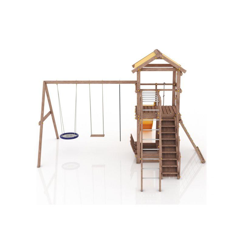 Фотография Деревянная детская площадка Барселона с тентовой крышей 6