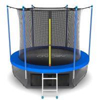 EVO JUMP Internal 12ft (цвет Sky или Wave) Батут с внутренней сеткой и лестницей, диаметр 12ft + нижняя сеть