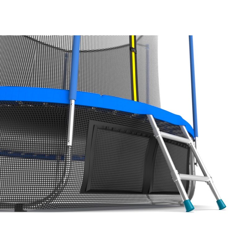 Фотография EVO JUMP Internal 12ft (цвет Sky или Wave) Батут с внутренней сеткой и лестницей, диаметр 12ft + нижняя сеть 5
