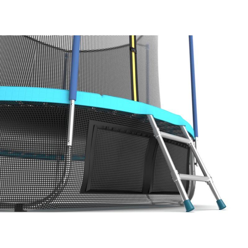 Фотография EVO JUMP Internal 12ft (цвет Sky или Wave) Батут с внутренней сеткой и лестницей, диаметр 12ft + нижняя сеть 8