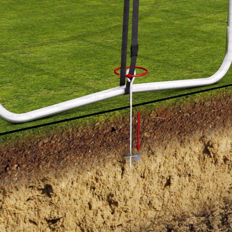 Фотография Колья (3 шт.) для крепления батута к земле 1