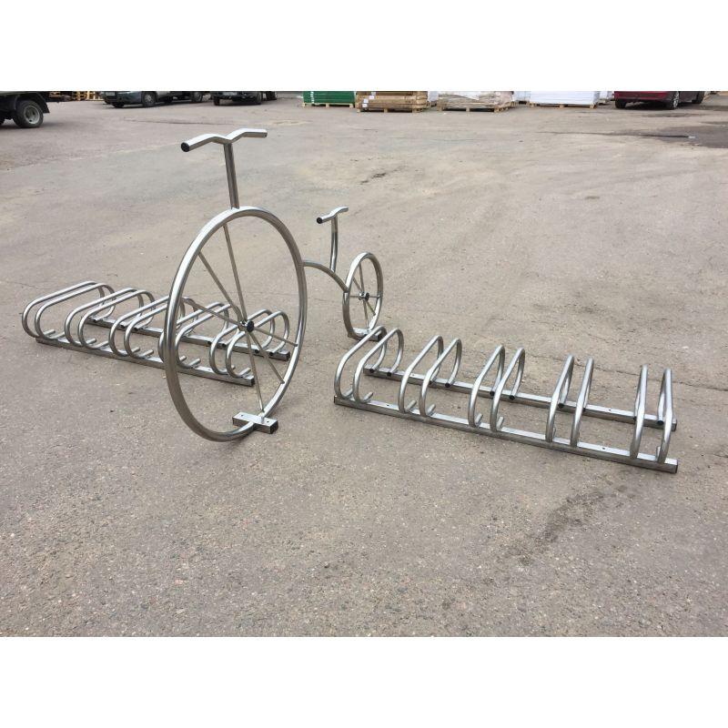 Фотография Декоративный велосипед из нержавейки 1
