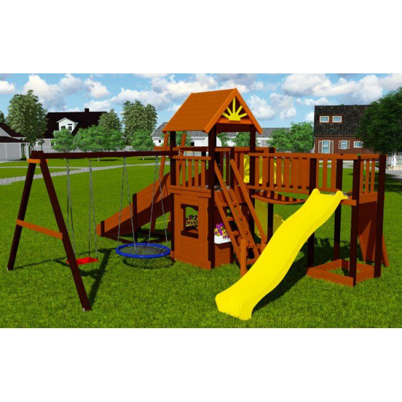 Фотография Деревянная детская всесезонная площадка Марк турбо 7 2