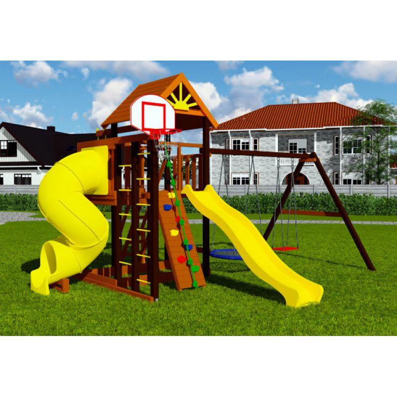 Фотография Деревянная детская площадка Марк турбо 1 0