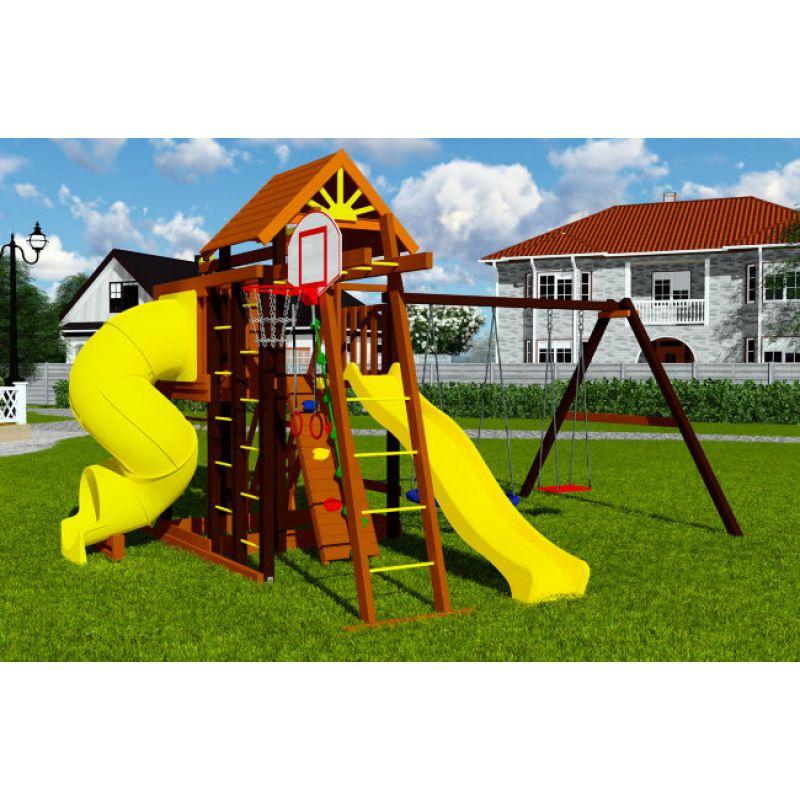 Фотография Деревянная детская площадка Марк турбо 2 0