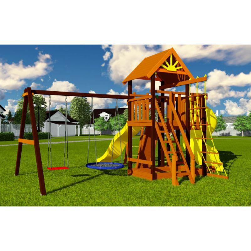 Фотография Деревянная детская площадка Марк турбо 2 1