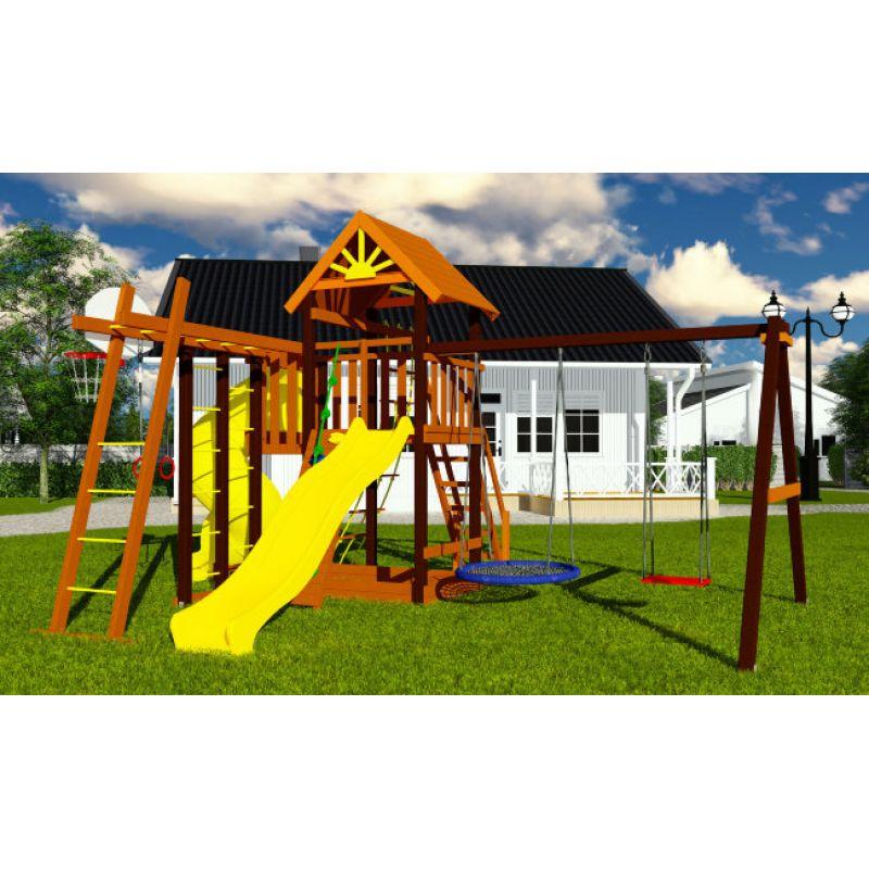 Фотография Деревянная детская площадка Марк турбо 2 3