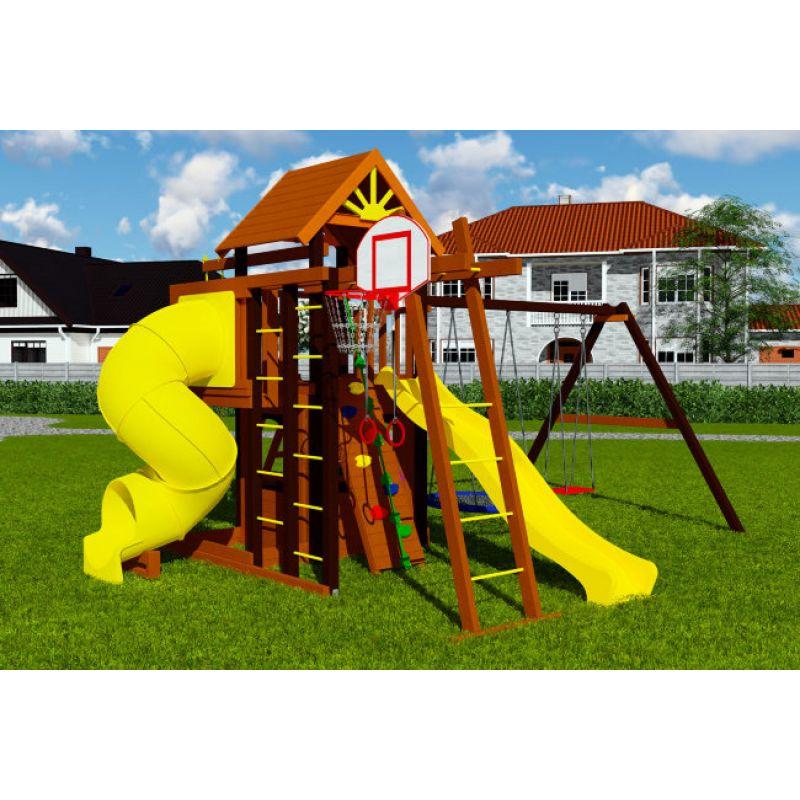 Фотография Деревянная детская площадка Марк турбо 3 0