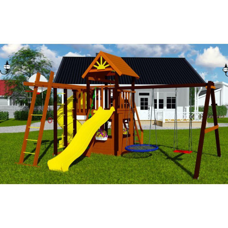 Фотография Деревянная детская площадка Марк турбо 3 1