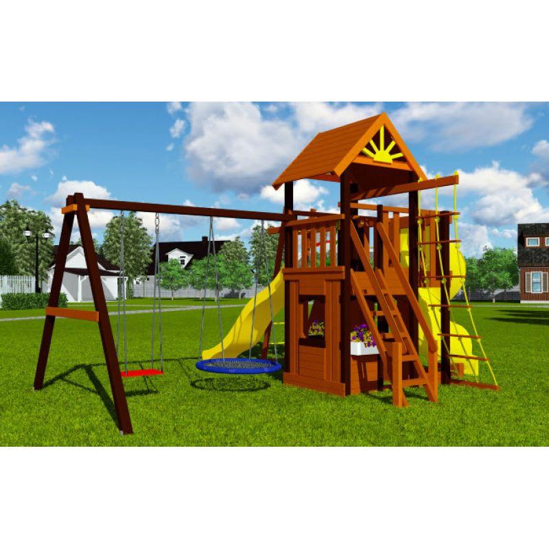 Фотография Деревянная детская площадка Марк турбо 3 2