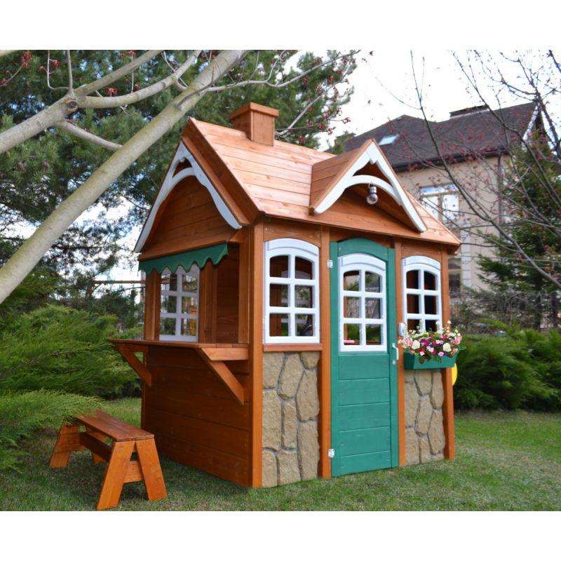 """Фотография Детский домик """"Happy house 3"""" песочный дворик 3"""