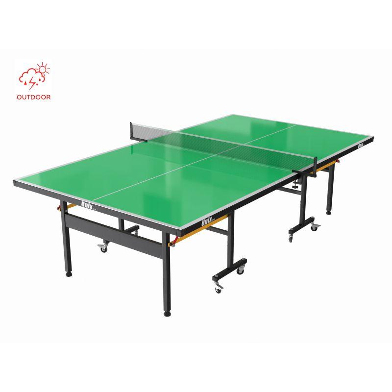 Фотография Всепогодный теннисный стол UNIX line outdoor 6mm (green) 1