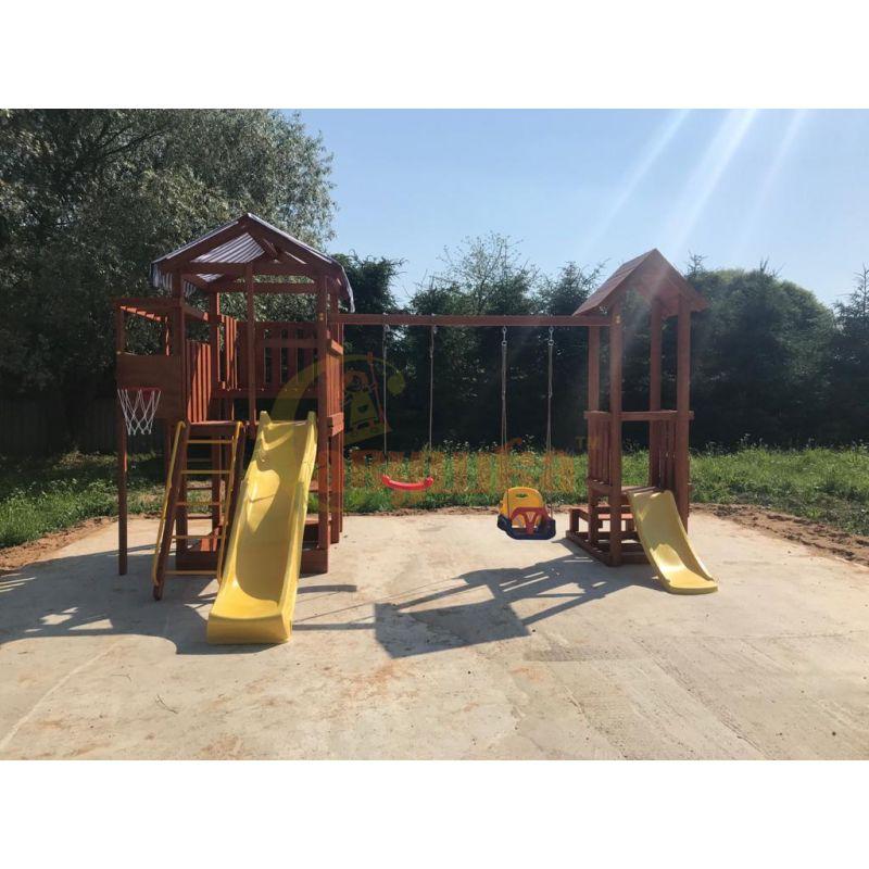 Фотография Деревянная детская площадка Савушка Хит - 4 8