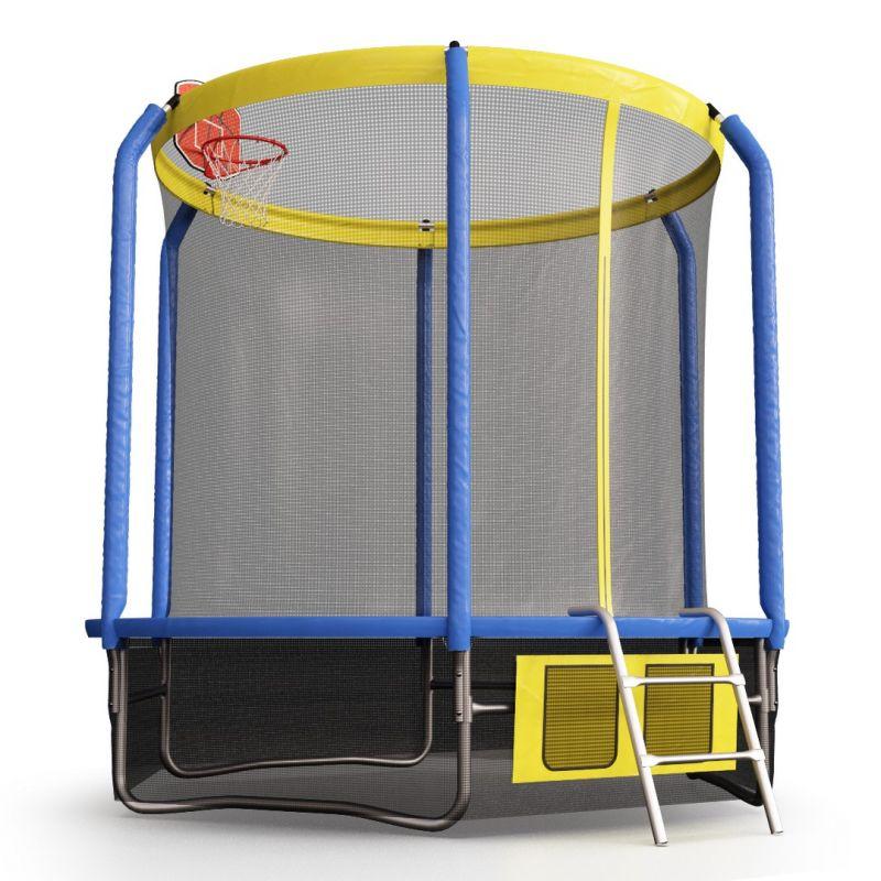 Фотография Батут Perfexo, 14FT, 427 см с сеткой, лестницей, баскетбольным кольцом и сумкой для обуви  2