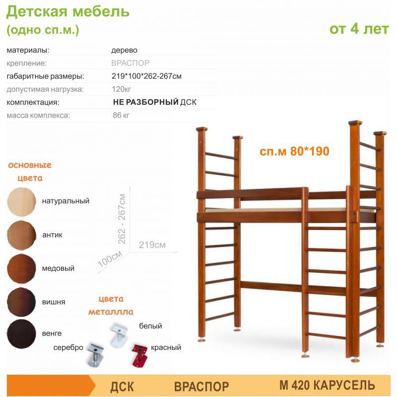Фотография М420 Детская мебель (одно сп. м) 1