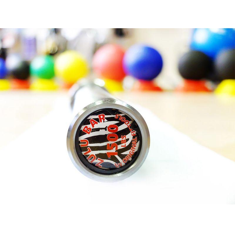 Фотография Гриф для кросс-тренинга двухцветный до 679 кг, без центральной насечки 2