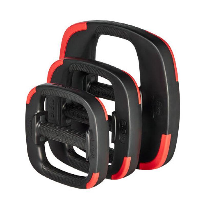 Фотография Набор дисков для штанги Les Mills SMARTBAR™ G2 Weight Set, вес: 2 x 1 кг, 2 x 2.5 кг, 2 x 5 кг 0