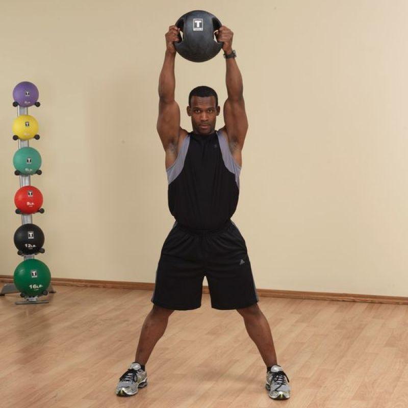 Фотография Тренировочный мяч с хватами 2,7 кг (6lb) 4