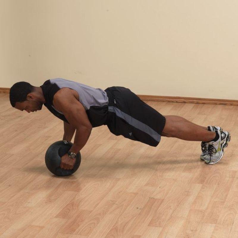 Фотография Тренировочный мяч с хватами 4,5 кг (10lb) 5