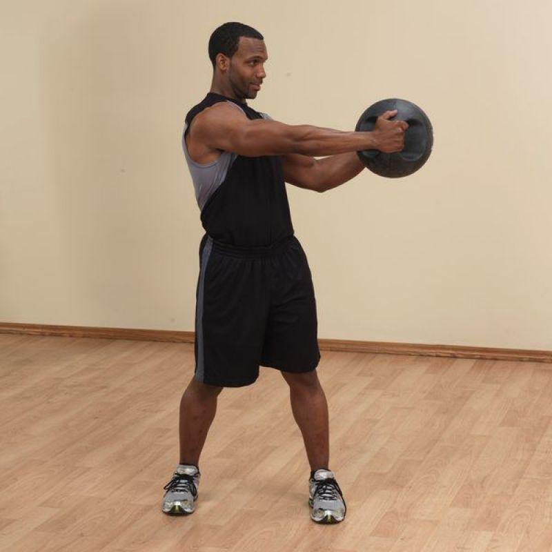 Фотография Тренировочный мяч с хватами 4,5 кг (10lb) 8