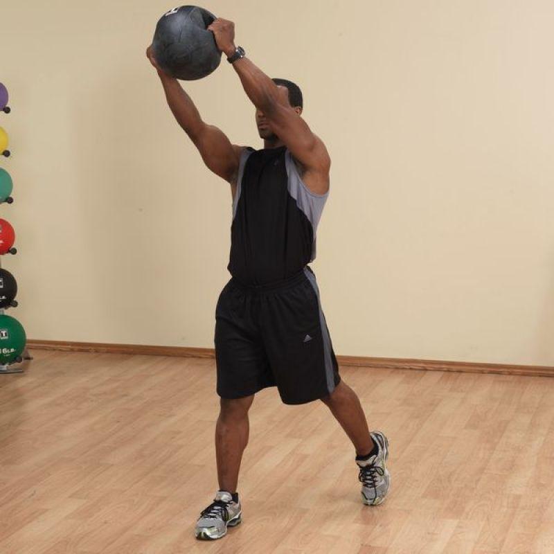 Фотография Тренировочный мяч с хватами 3,6 кг (8lb) 6