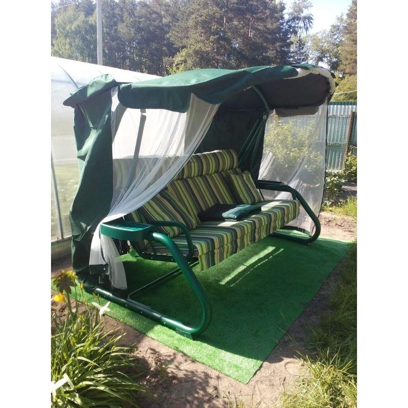 Фотография Садовые качели Империя зелёные 1