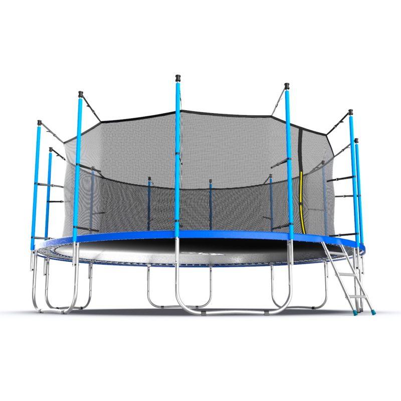 Фотография EVO JUMP Internal 16ft Батут с внутренней сеткой и лестницей, диаметр 16ft  12