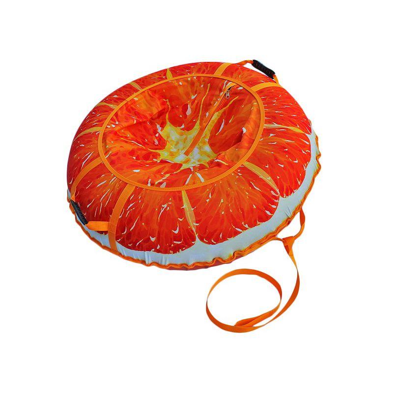Фотография Тюбинг Сочный апельсин 110 см 0