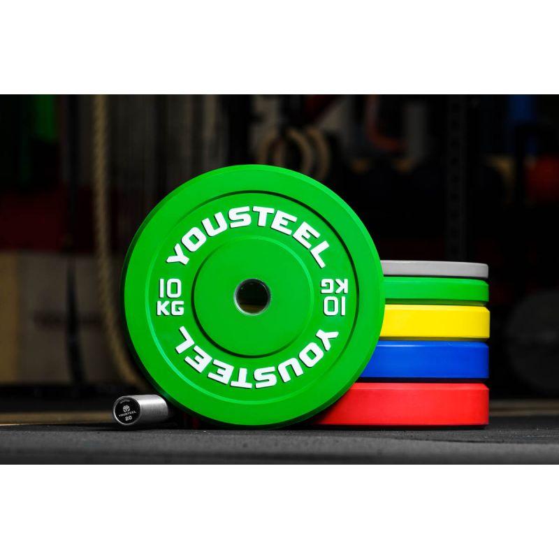 Фотография Диск каучуковый цветной 10кг, зеленый 51мм 0