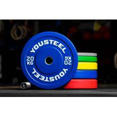 Миниатюра Диск каучуковый цветной 20кг, синий 51мм 0  мини