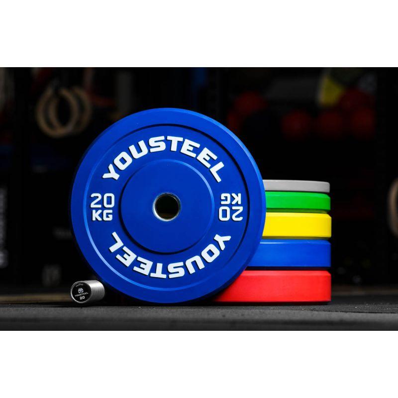 Фотография Диск каучуковый цветной 20кг, синий 51мм 0