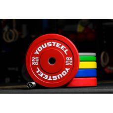 Миниатюра Диск каучуковый цветной 25кг, красный 51мм 0  мини