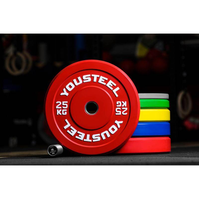 Фотография Диск каучуковый цветной 25кг, красный 51мм 0