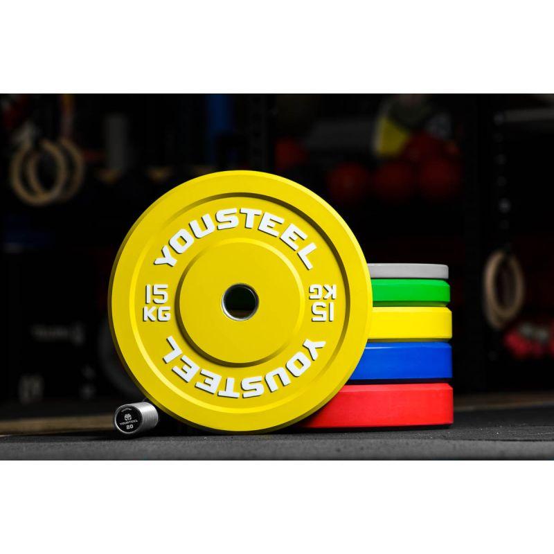 Фотография Диск каучуковый цветной 15кг, желтый 51мм 0