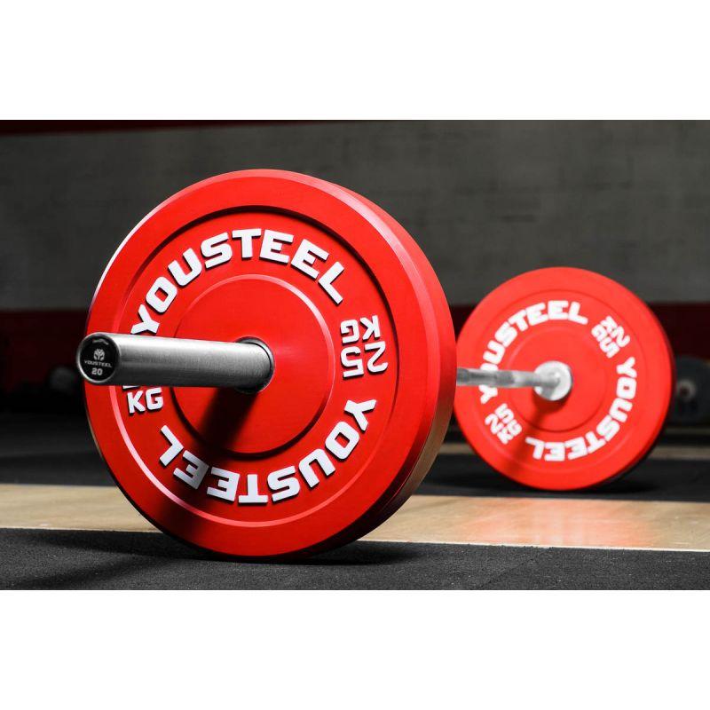 Фотография Диск каучуковый цветной 25кг, красный 51мм 1