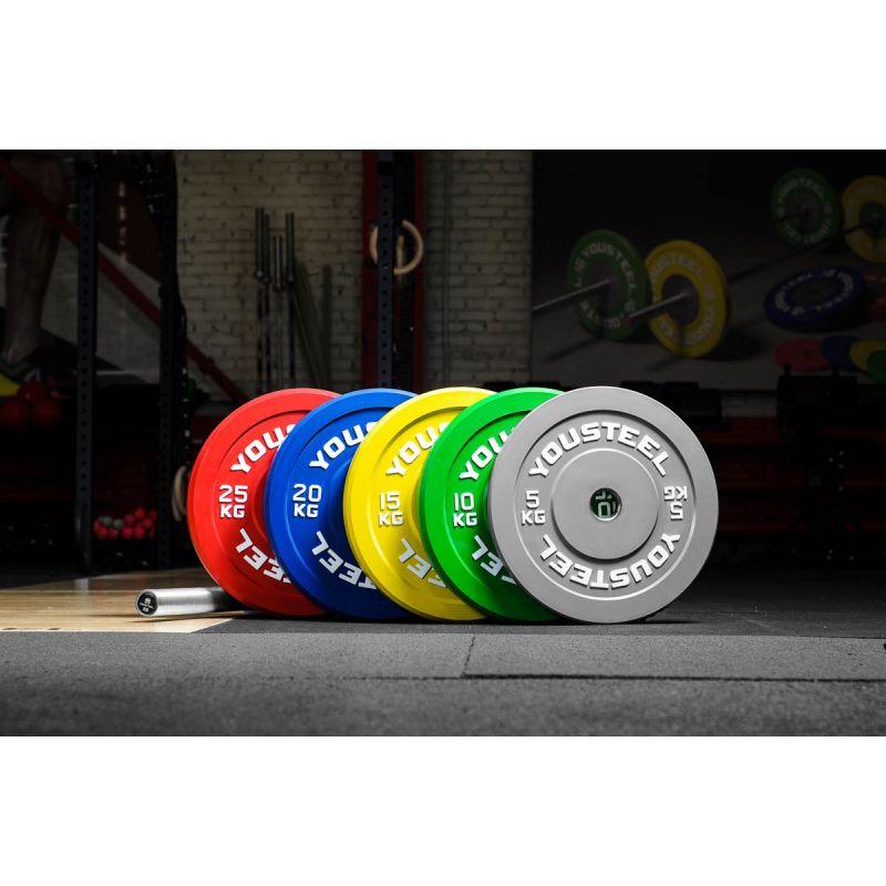 Фотография Диск каучуковый цветной 10кг, зеленый 51мм 1