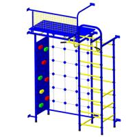 Детский спортивный комплекс Пионер 10С со скалодромом сине/желтый