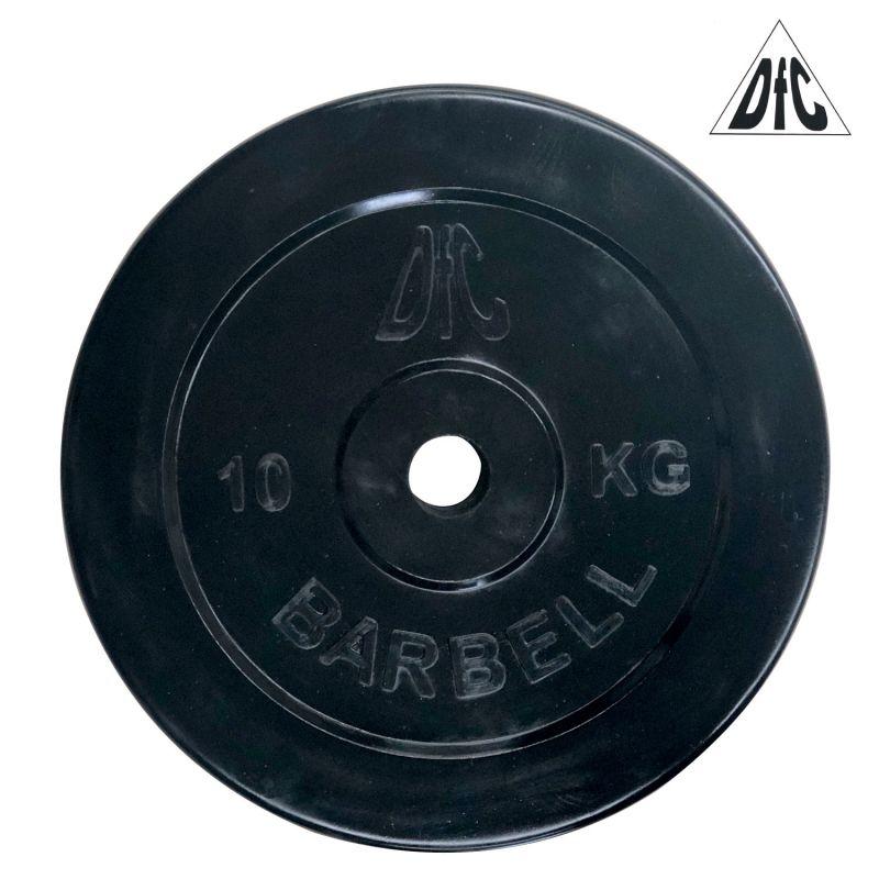 Фотография Диск обрезиненный DFC, чёрный, 26 мм, 10кг 1