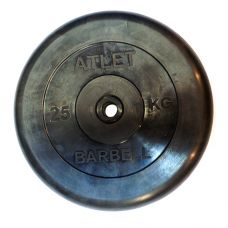 Миниатюра Диски обрезиненные, чёрного цвета, 26 мм, Atlet MB-AtletB26-25 0  мини