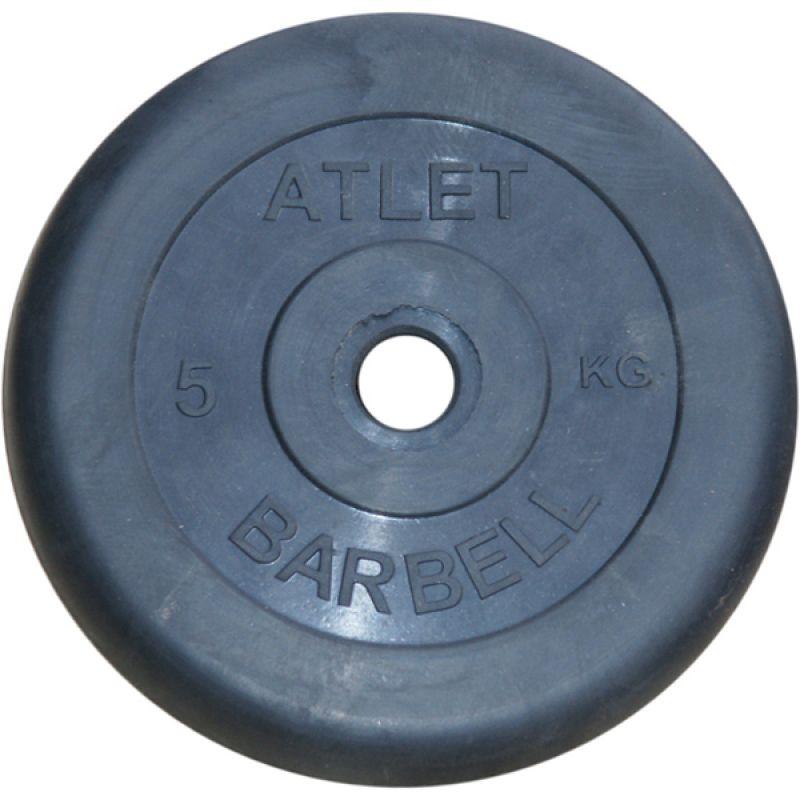 Фотография Диски обрезиненные, чёрного цвета, 26 мм, Atlet MB-AtletB26-5 0