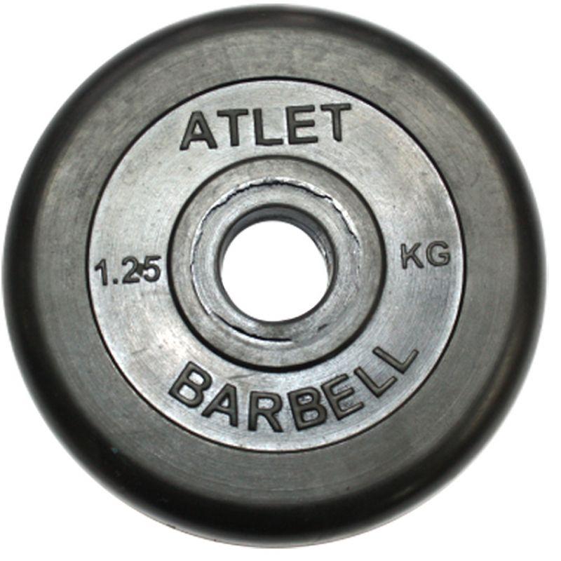 Фотография Диски обрезиненные, чёрного цвета, 26 мм, Atlet MB-AtletB26-1,25 0