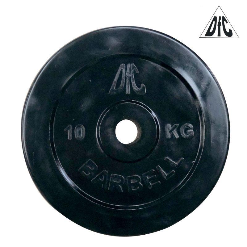 Фотография Диск обрезиненный DFC, чёрный, 31 мм, 10кг 0