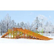 Миниатюра Зимняя деревянная горка Snow Fox, 4 ската 0  мини