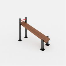 Миниатюра Скамья наклонная для упражнений пресса 0  мини