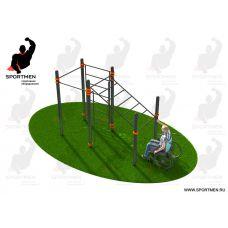 Миниатюра Спортивный комплекс, адаптированный для инвалидов-колясочников СВС-124 0  мини