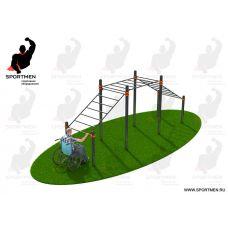 Миниатюра Рукоход трехуровневый, адаптированный для инвалидов-колясочников 0  мини