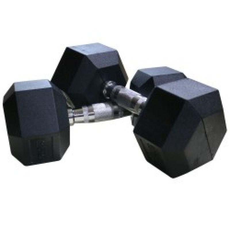 Фотография Гантель гексагональные DFC обрезиненная пара 32,5 кг 2